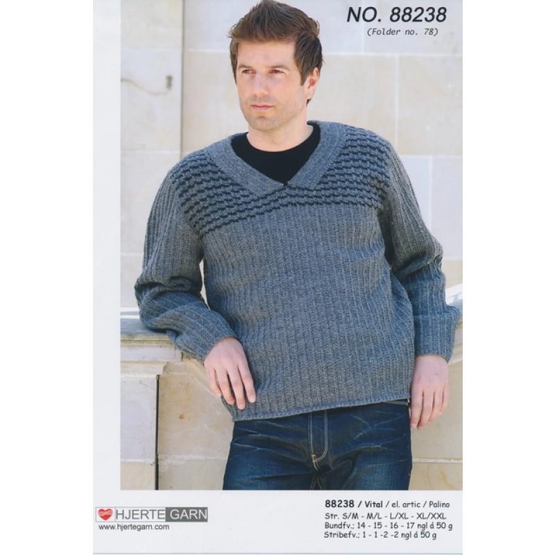 88238 Herre-sweater m/v-hals-00