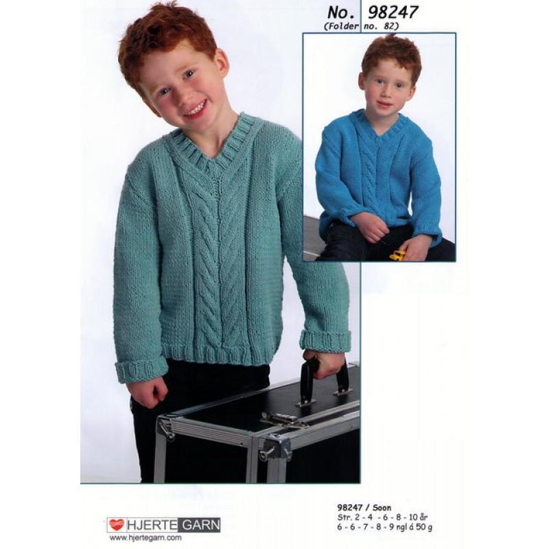 98247 Sweater m/fletmønster-00