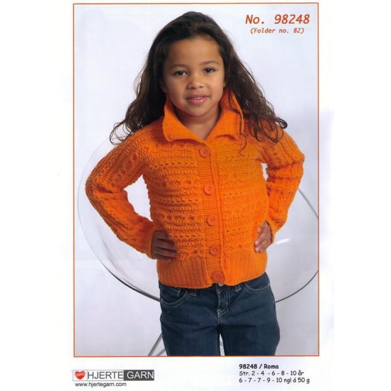 98248 Kort trøje strikket på tværs
