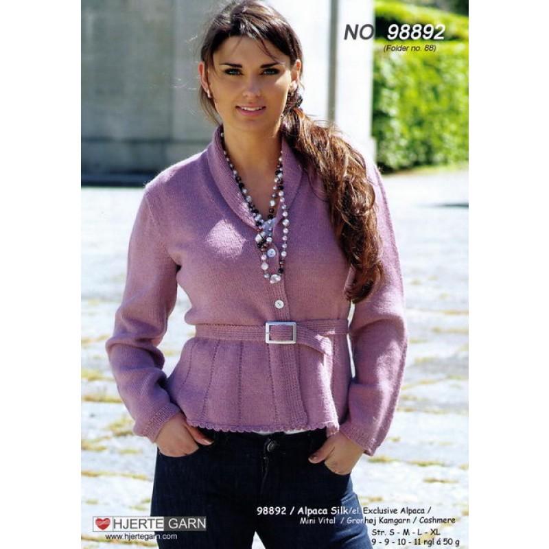 98892 Feminin trøje m/skød