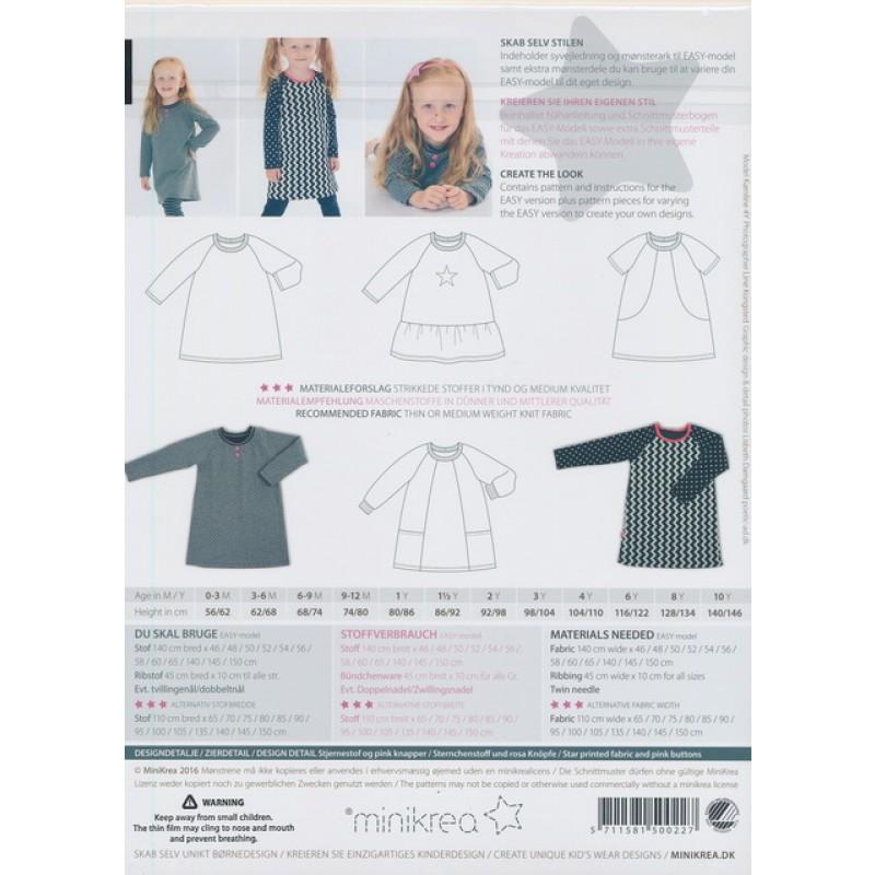 50022 Minikrea raglan kjole
