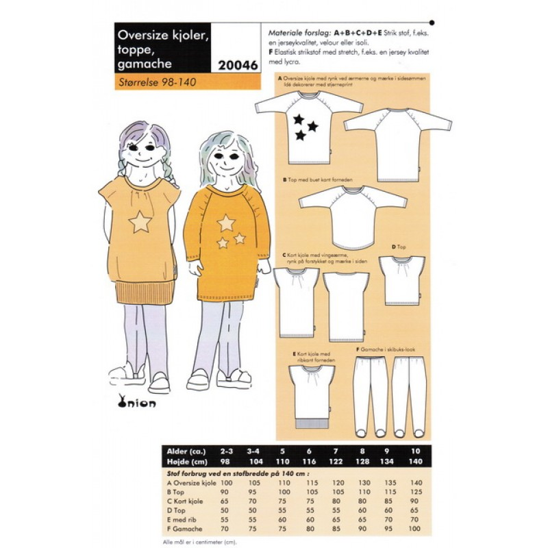 Onion 20046 -Oversize kjoler, toppe, gamacher