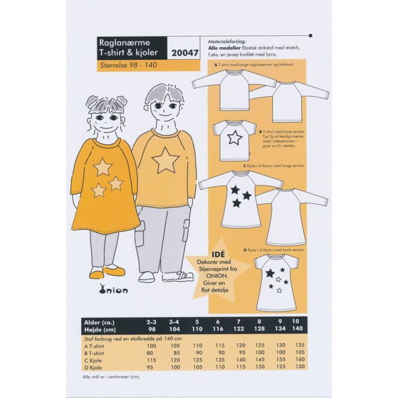 Onion 20047 Raglanærme T Shirt Kjole Bestil Online Stofstedet