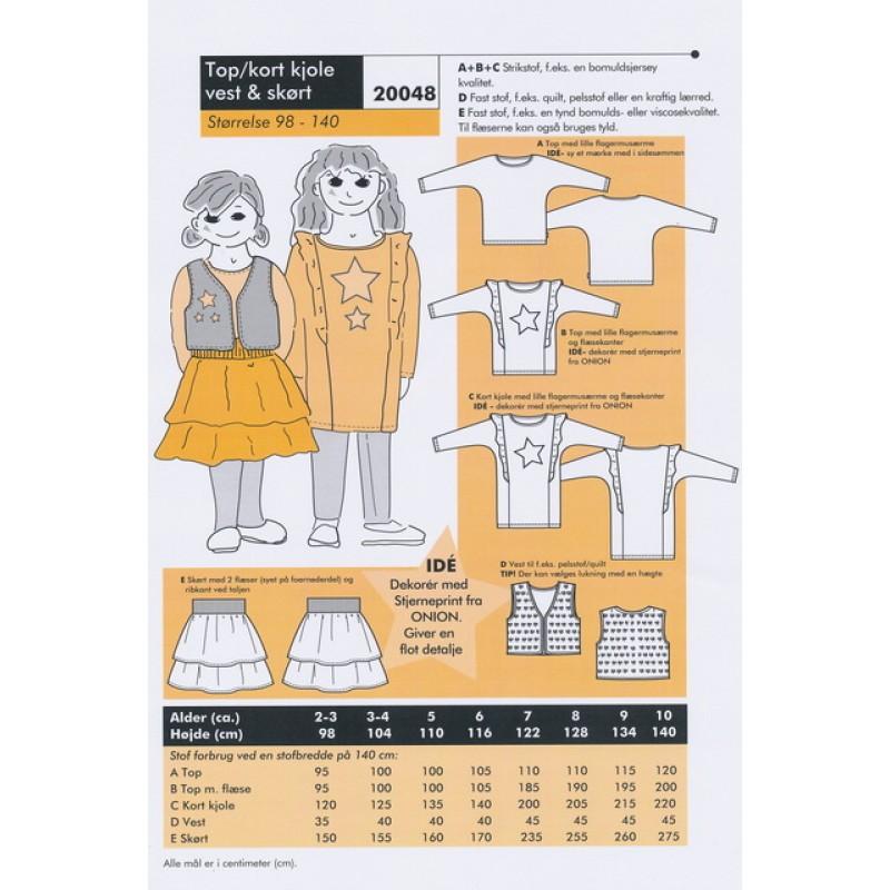 Onion 20048 -Top/kort kjole, vest & skørt