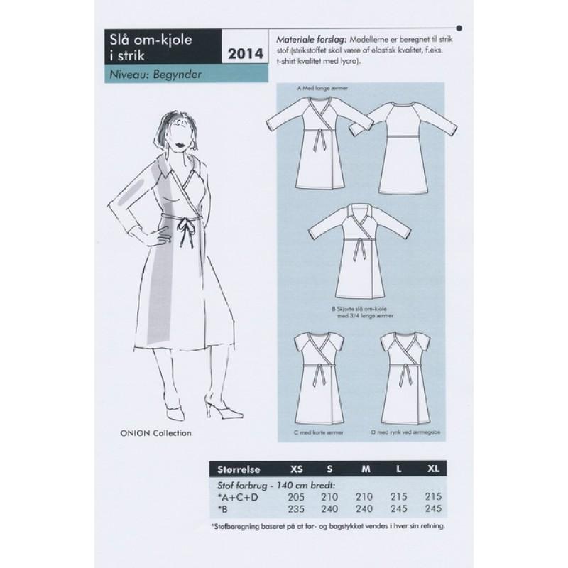 Onion 2014 -Slå om-kjole til strik