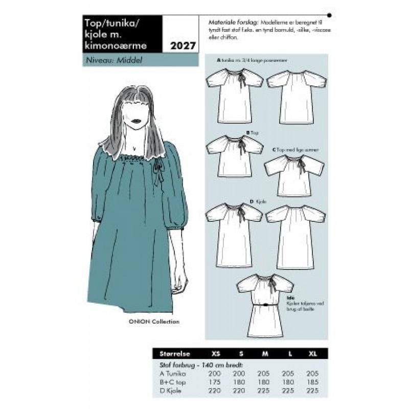 Onion 2027 Top/ tunika/ kjole med kimonoærme-31