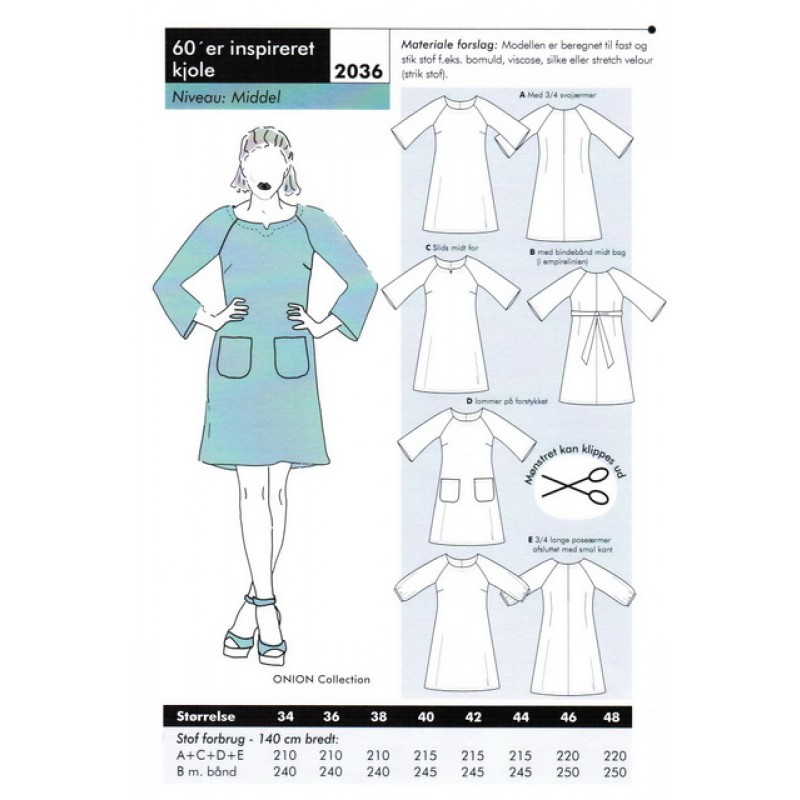 Onion 2036 -60er inspireret kjole