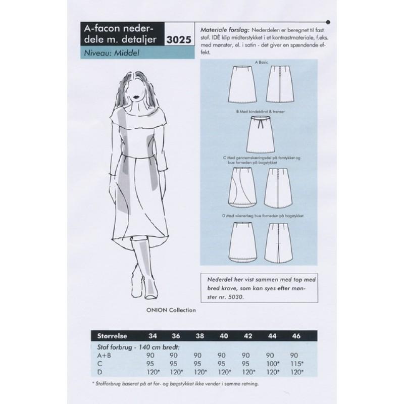 Onion 3025-A-facon nederdel m/detaljer-35