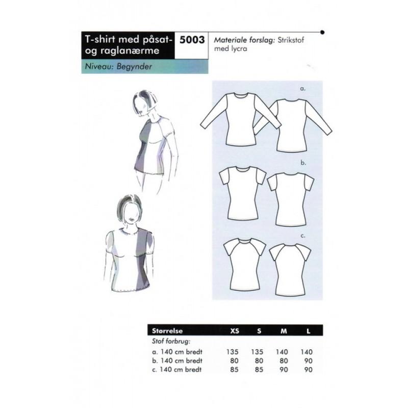 Onion 5003-T-shirt med påsat og raglanærme-31