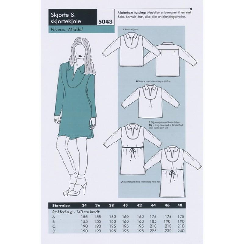Onion 5043 -Skjorte & skjortekjole