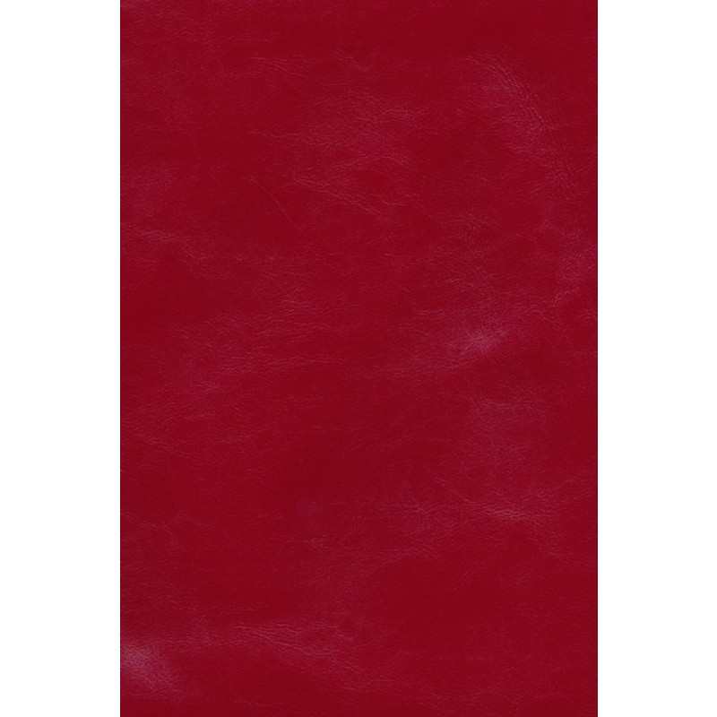 Afklip læder rød, 60 x 65 cm.