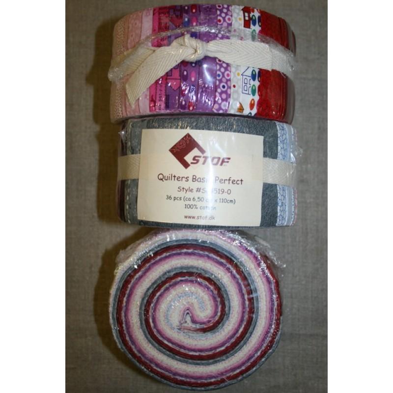 Quilters Basic Perfect rosa/grå/rød-33
