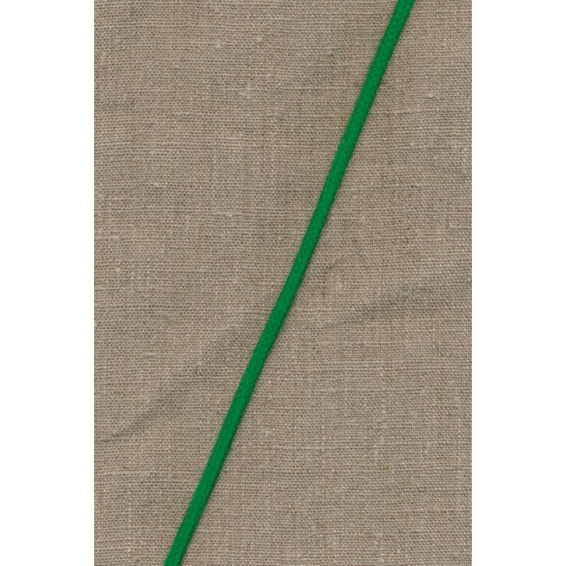 Anoraksnor bomuld 5 mm. græsgrøn