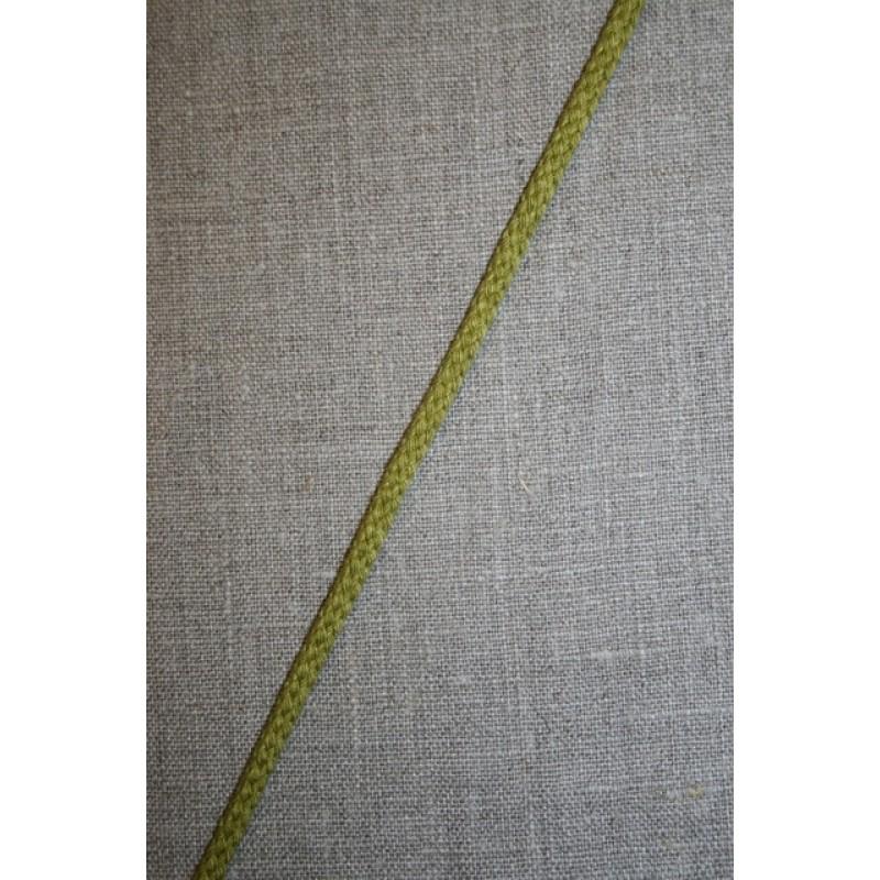 Rest Anoraksnor 4 mm. meleret lime, 75 cm.