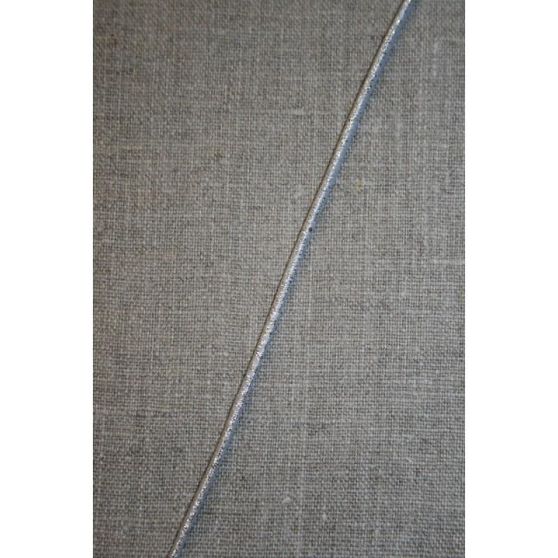 Elastik-anoraksnor Sølv-look.-31
