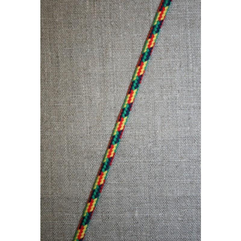 Anoraksnor 5 mm. fler-farvet rød/gul/grøn-35
