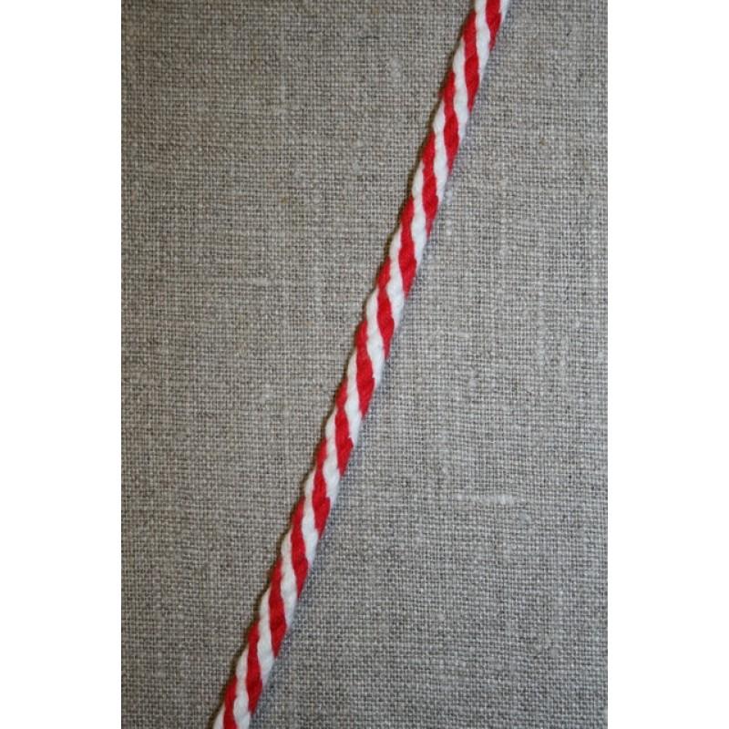 2-farvet anoraksnor hvid/rød-35