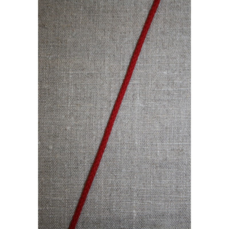 Anoraksnor bomuld 3,5 mm. rød