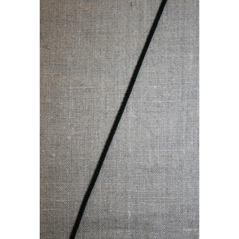 Anoraksnor bomuld 3,5 mm. sort-33