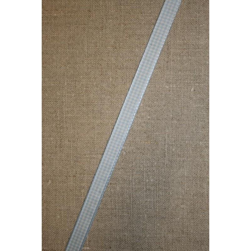 Ternet bånd lyseblå-hvid