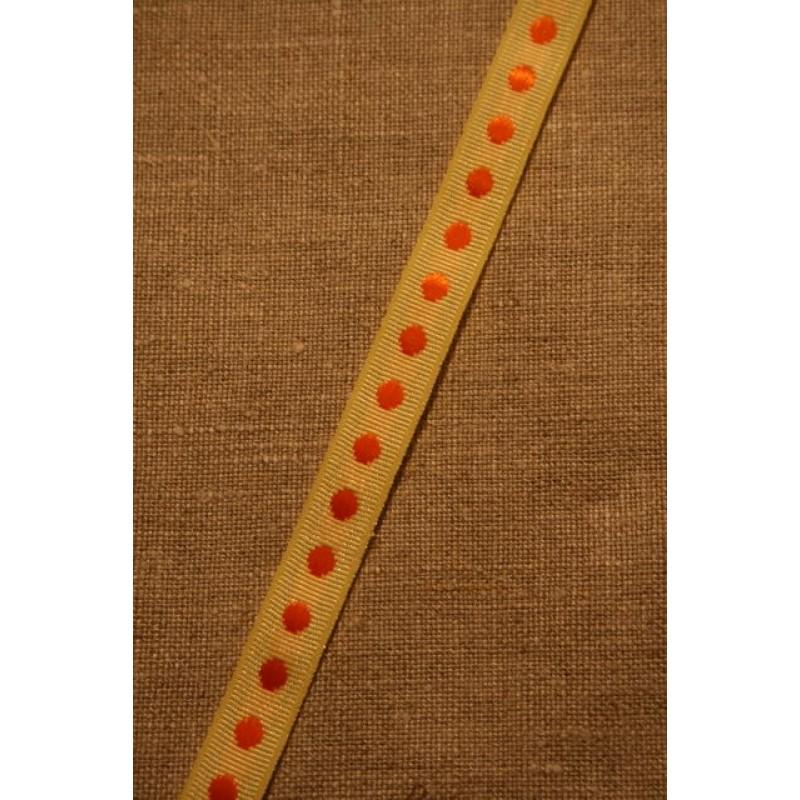 Bånd med prikker lysegul-orange-33