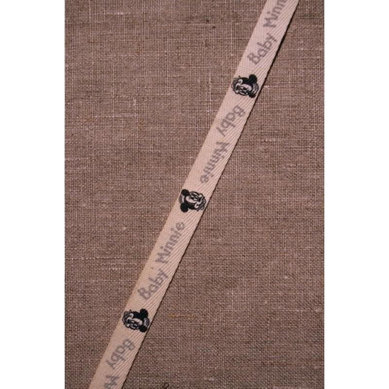 Rest Off-white bånd m/baby Minnie, 110 cm.