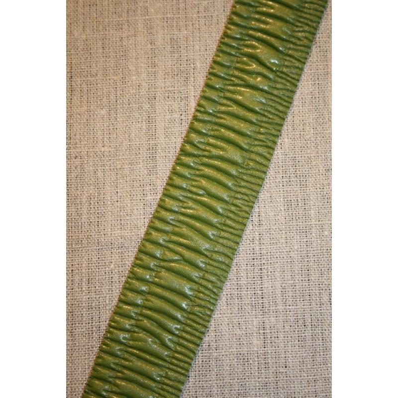 Imiteret læder bånd, mørk lime-33
