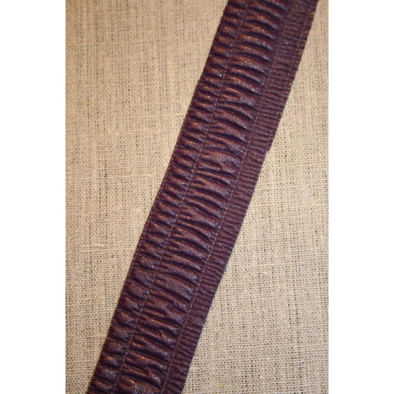 Imiteret læder bånd, lilla-33