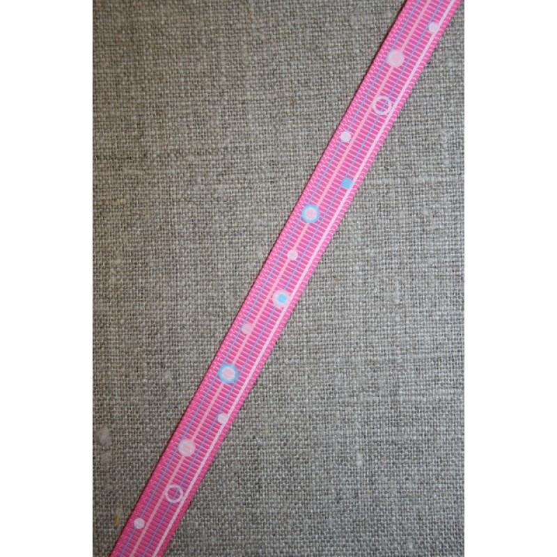Retro grosgrain bånd med bobler, pink-31