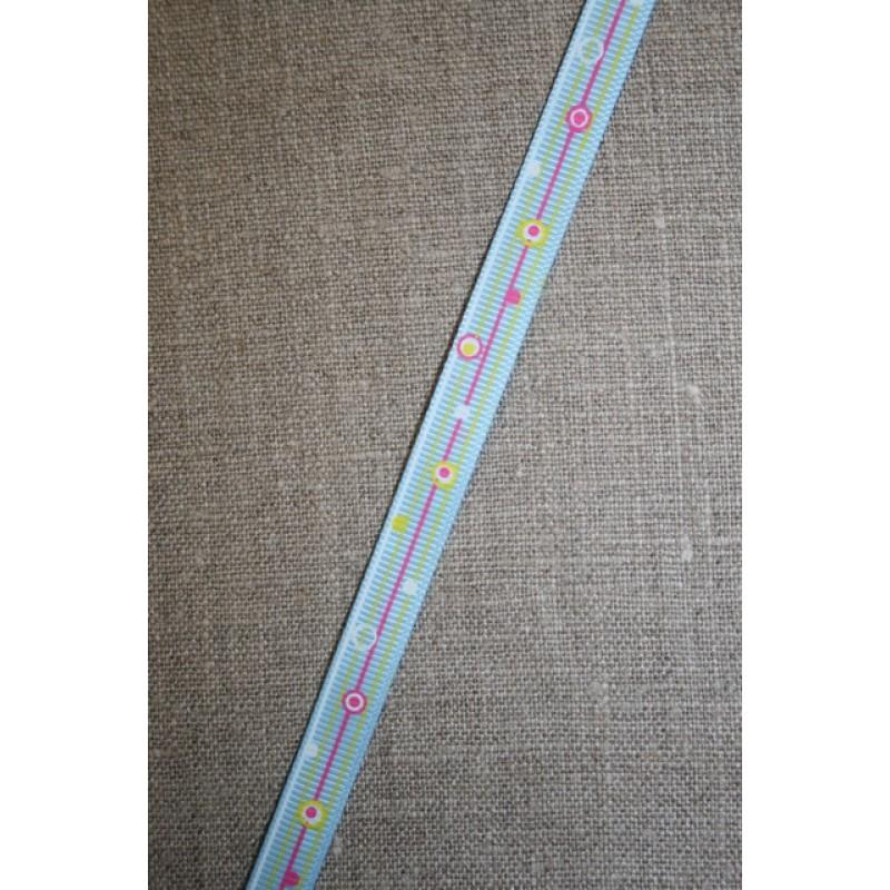 Retro grosgrain bånd med bobler, lyseblå-31