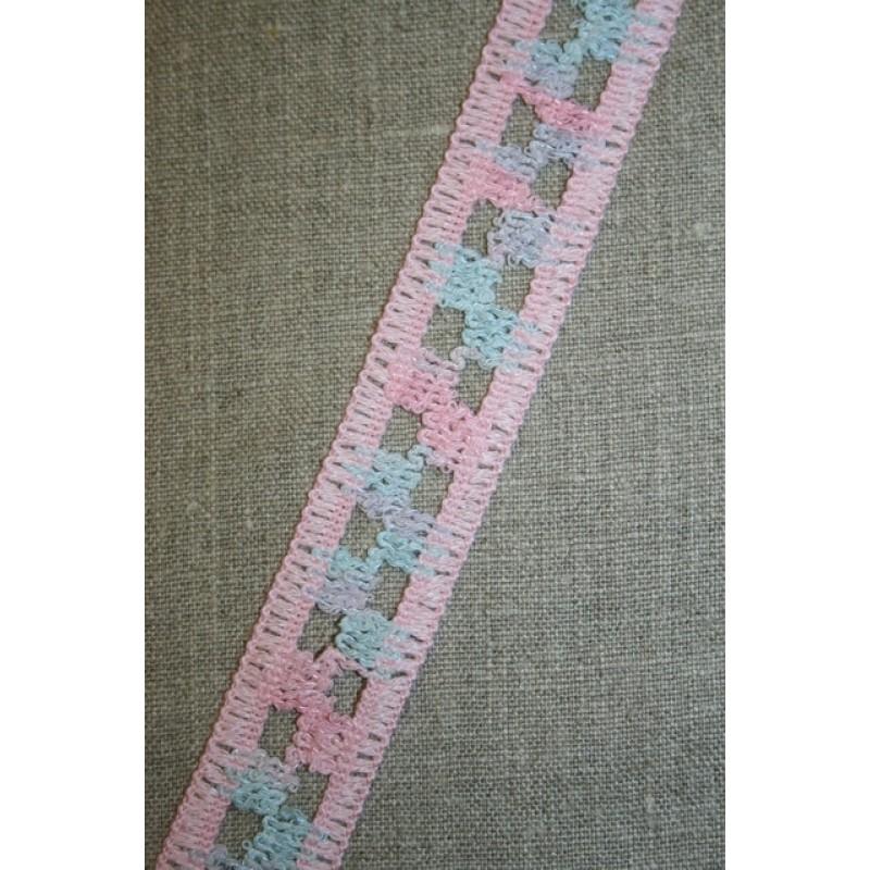 Bånd lyserød/lyseblå/lyselilla