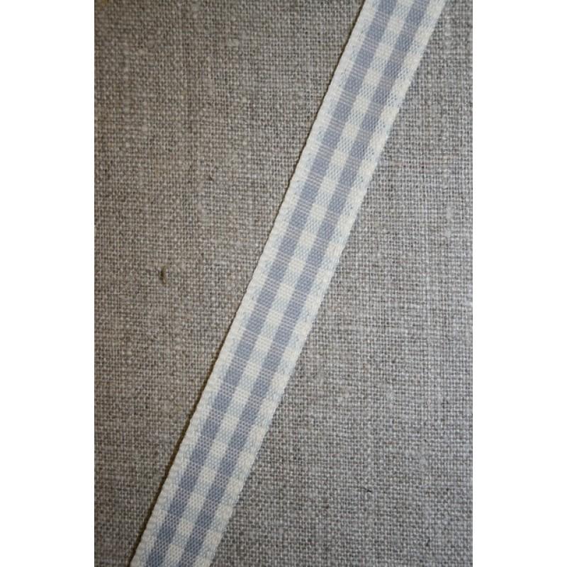 Ternet bånd off-white/grå, 15 mm.-31
