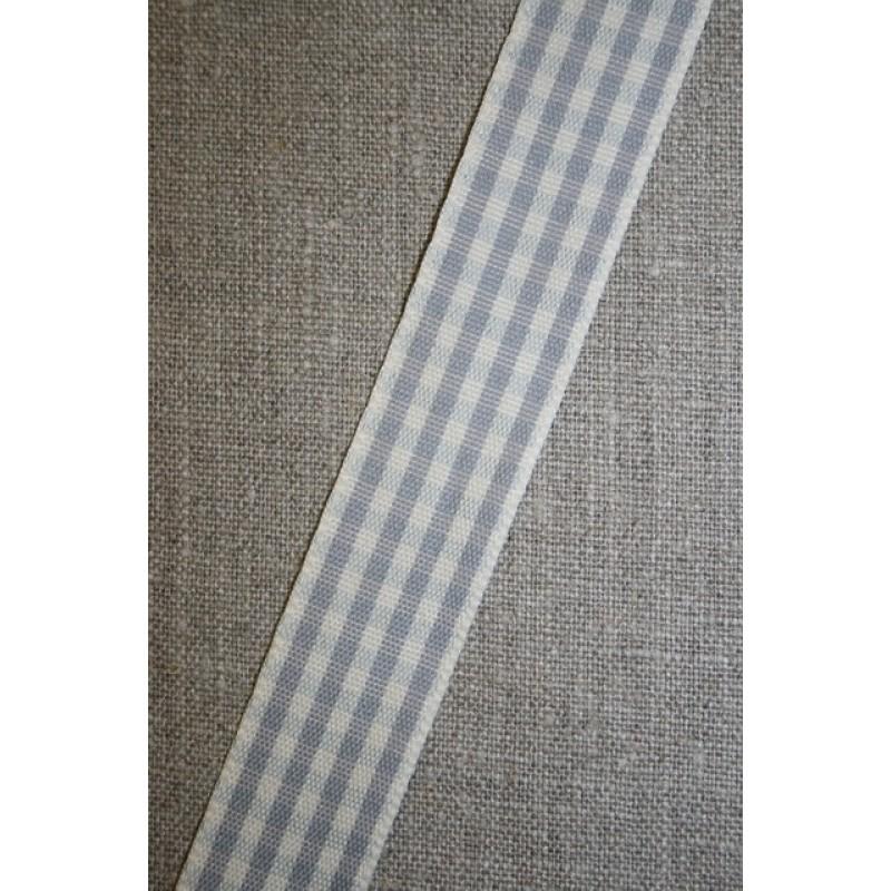 Ternet bånd off-white/grå, 25 mm.-31
