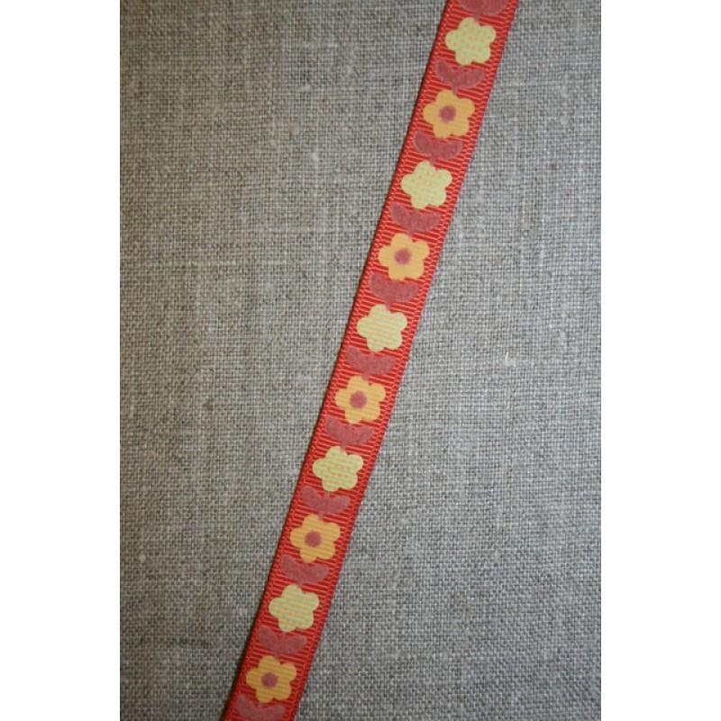 Bånd med blomster orange-gul-35