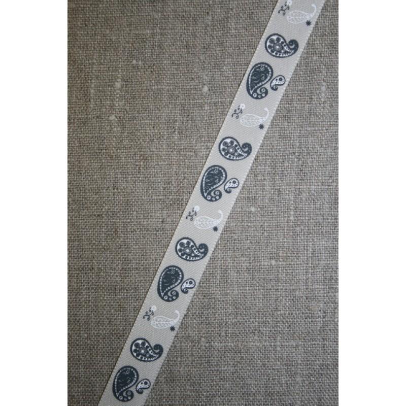 Bånd kit - koksgrå, med sjals-mønster