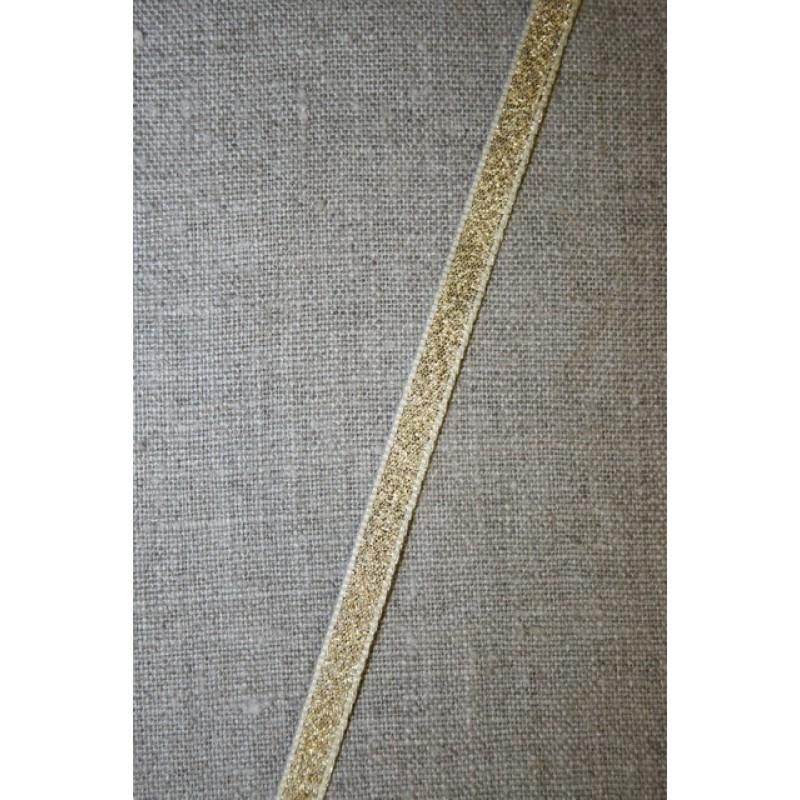 Lurex-lame-bånd guld, 7 mm.-35