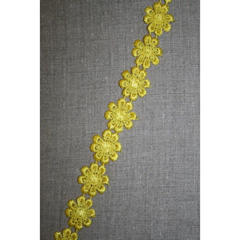 Rest Bånd med marguerit, gul- 20 cm.