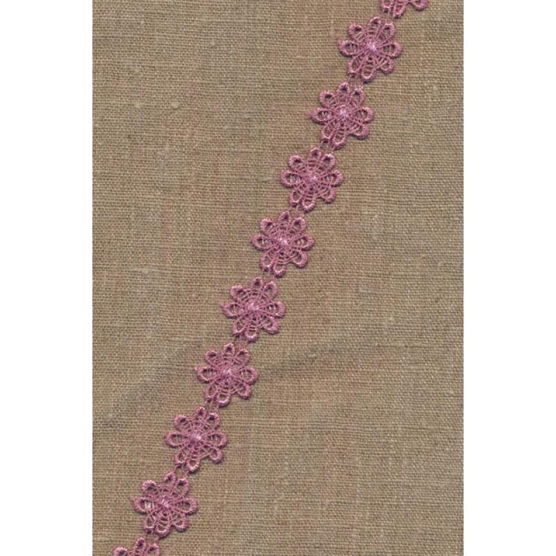Spartel - Bånd med Marguerit i gammel rosa
