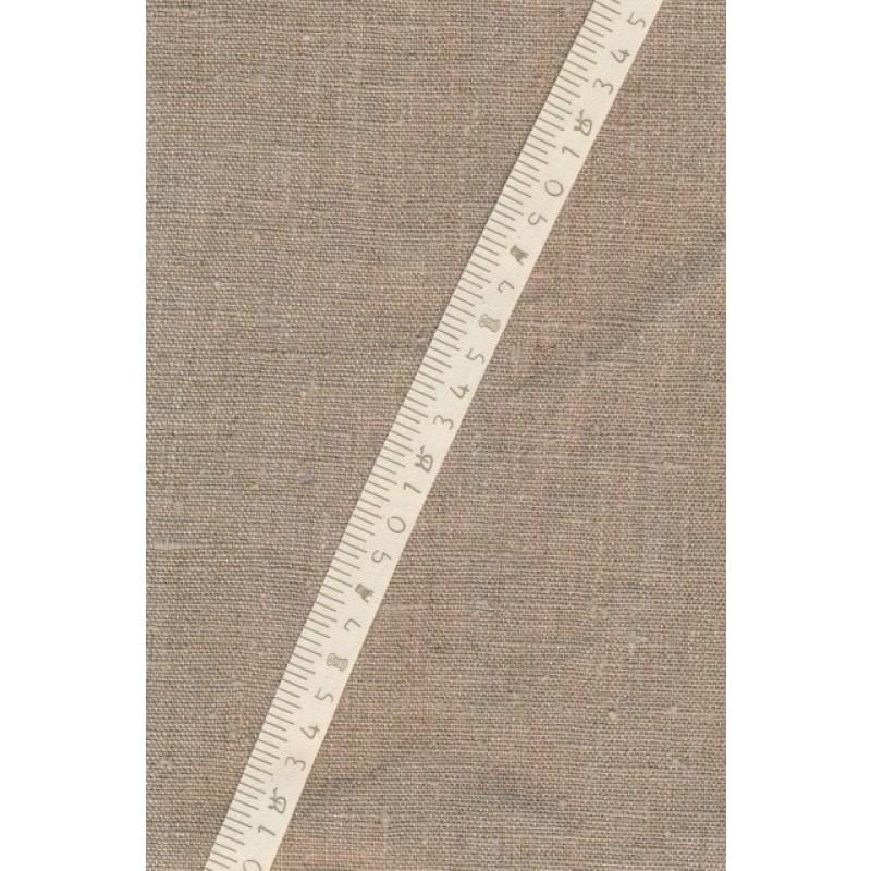 5 meter Bånd i bomuld i offwhite med centimetermål
