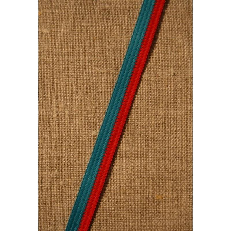 2-farvet bånd rød/turkis-31