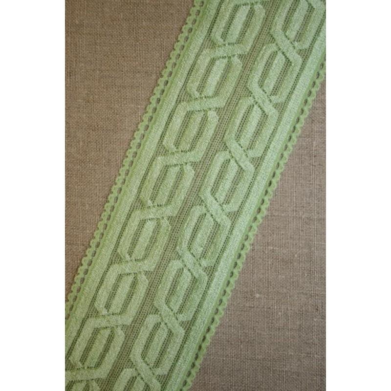 Blonde m/kabel-mønster lysegrøn-31