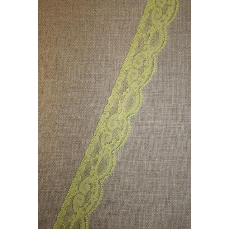 3 meter Nylonblonde 30 mm, lime/gul