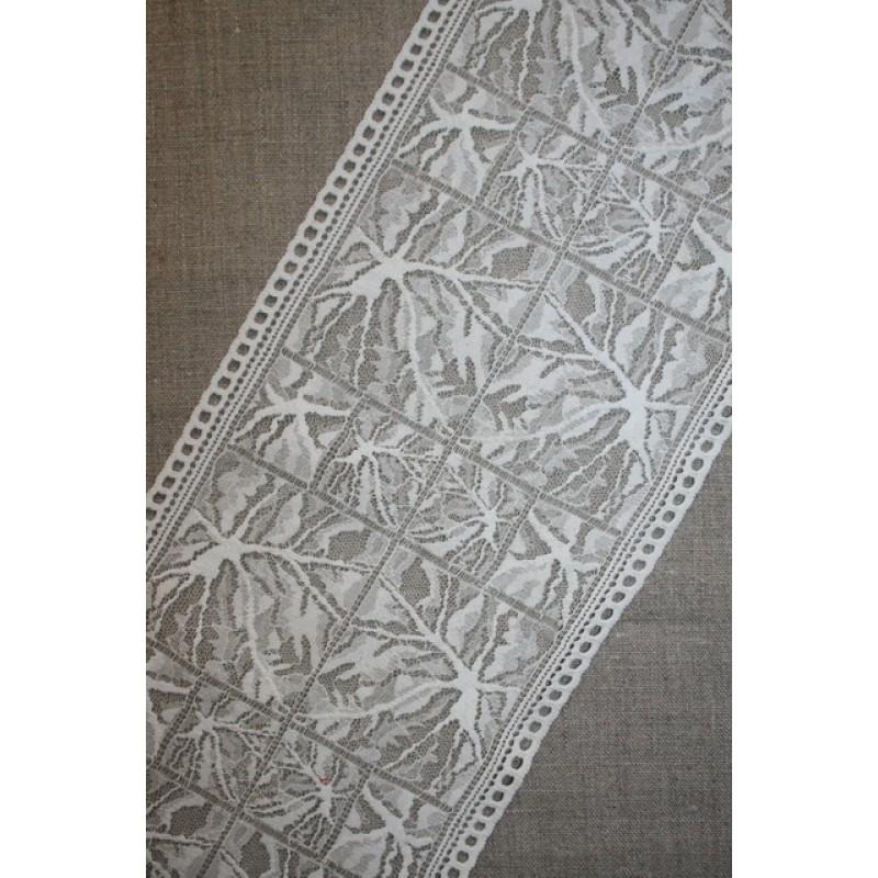 """Strækblonde off-white m/""""spindelvæv"""", 160 mm."""