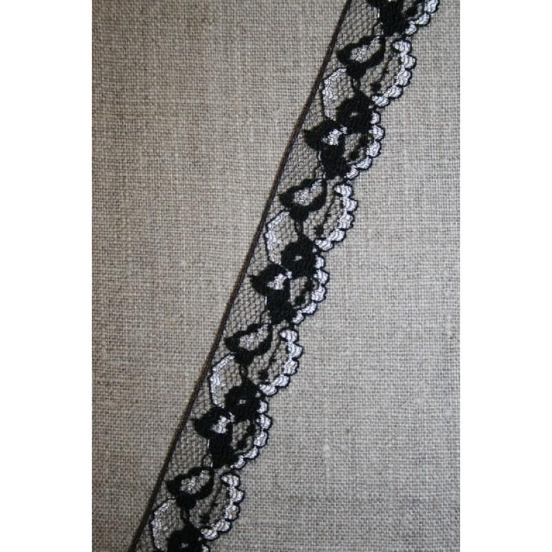 Nylonblonde sort/hvid-31