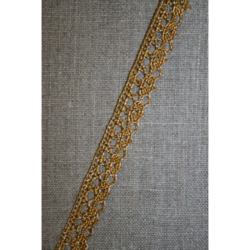 Rest Blonde metalic 12 mm, rød-guld- 60 cm.