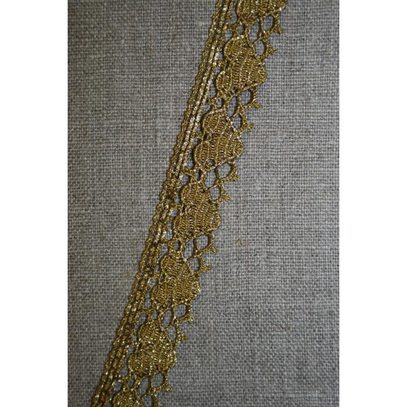 Blonde metalic 18 mm m/hjerter, gl.guld-35