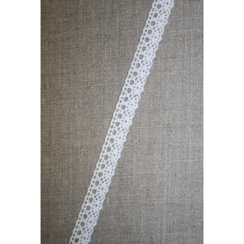 2 meter Bomulds-blonde 15 mm. hvid-33