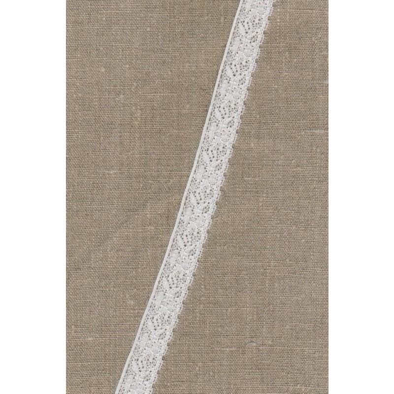 Strækblonde 20 mm. ecru-knækket hvid