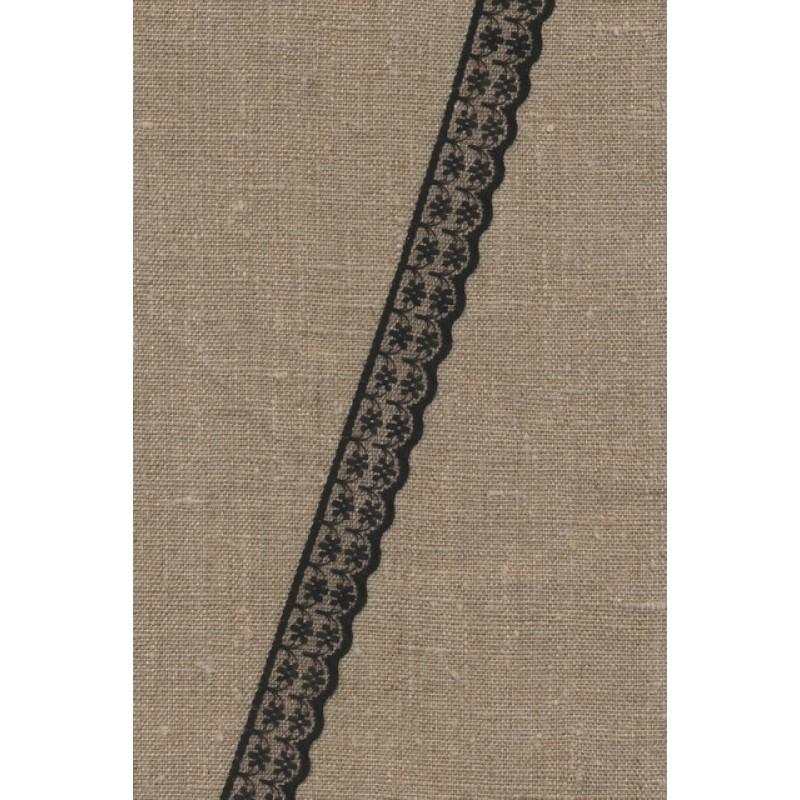 Nylonblonde sort 20 mm.-33