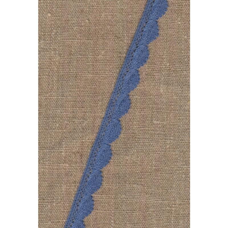 Bomulds-blonde 12 mm. i denim-blå-311